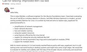 Ubuntu 正考虑使用 Intel IWD取代 WPA_Supplicant 作为 iNET 无线守护程序插图
