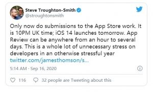 iOS 14 正式版惹恼开发人员插图